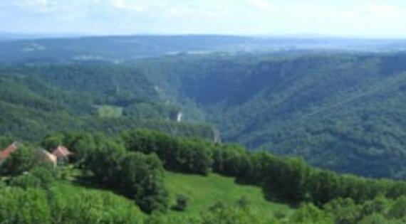 Le panorama de Mouthier Haute-Pierre