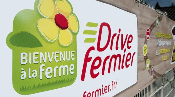Drive fermier Bienvenue à la ferme vente directe