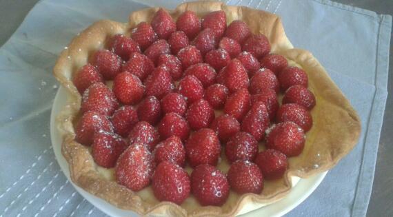 Tarte aux fraises De Létiss
