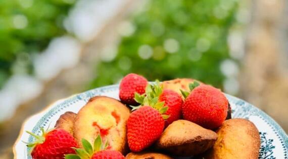 Les Madeleines à la fraise