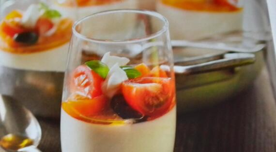 Panna Cotta mozzarella tomate