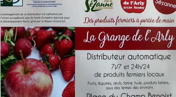 Affiche distributeur SEZANNE