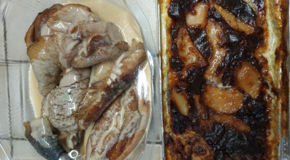 2 parts de poulets à la crème + gratin pour 2