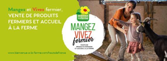 Carte Bienvenue à la ferme Hauts-de-France 2021
