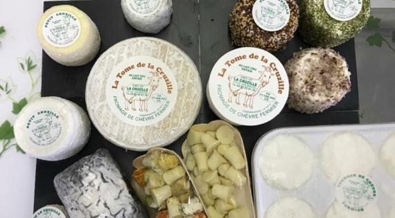 De bons fromages de chèvre fermiers
