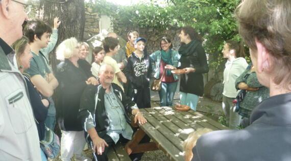 visite guidée à la ferme La Caracole