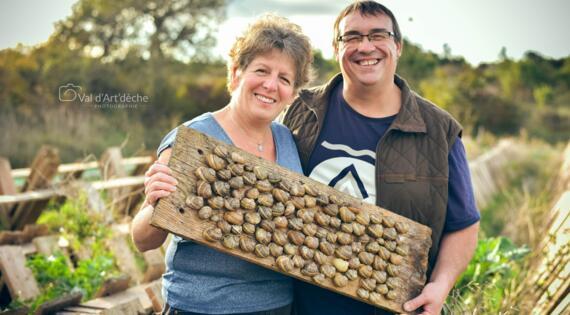 Valerie et Cyrille les Escargots des Restanques St Remèze Ardèche